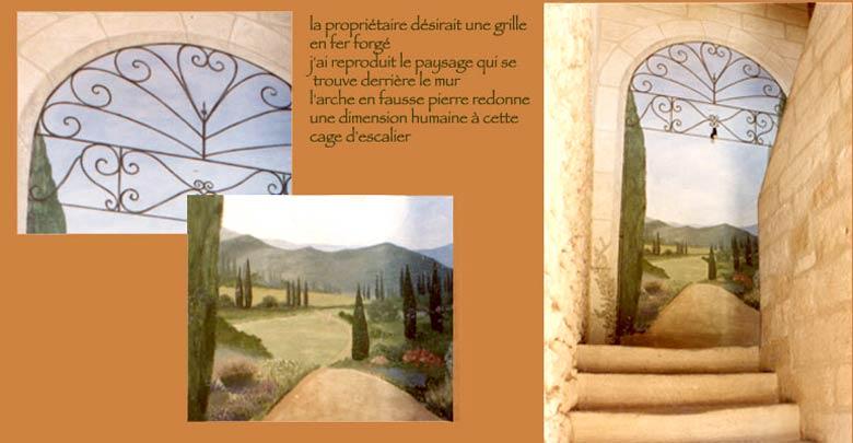 Fresques - peintures - trompe l\'oeil de Marielle Bonnefoi